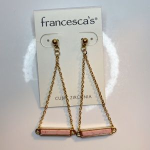 FRANCESCA'S GOLD& PINK EARRINGS